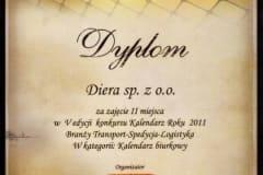Speducje.pl - Dyplom dla firmy Diera