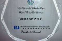 Podziękowanie dla firmy Diera