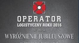 Wyróżnienie w XV edycji badania Operator Logistyczny Roku 2016