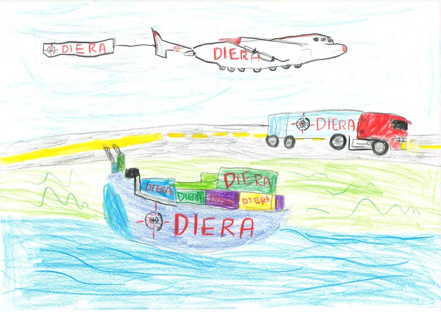 Rysunek Krystian Zdrodowski, lat 13